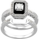 14K White Gold Diamond Bridal Engagement Ring