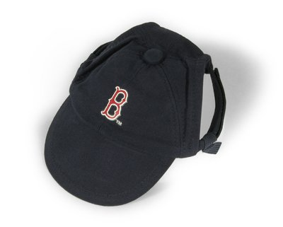 Boston Red Sox Logo Dog Baseball Cap Hat Size Medium/Large
