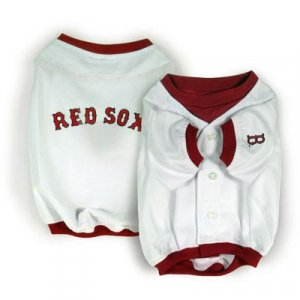 Boston Red Sox Official MLB Dog Jersey Shirt Size Large