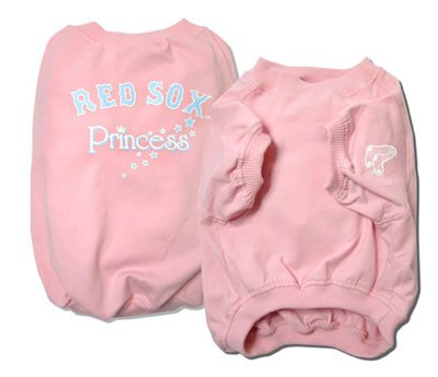 Boston Red Sox Princess Pink Dog Shirt Size Large