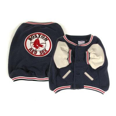 Boston Red Sox Varsity Style Dog Jacket Coat Size Medium