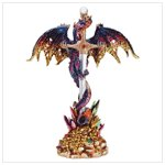 Multicolored Metallic Dragon & Sword