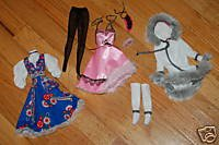 NEW Barbie doll Clothes dress garter tights accessories