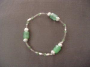 light green beaded bracelet