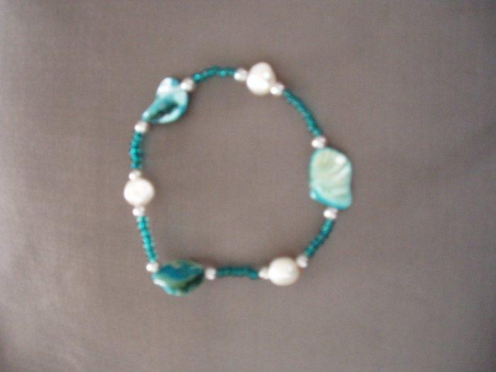 turquoise stone beaded bracelet