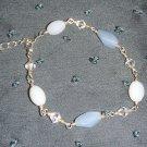 blue and white beaded bracelet