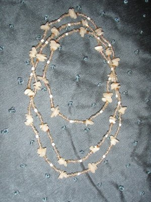 double strand  Ivory shell necklace