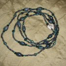 dark green marble double strand necklace