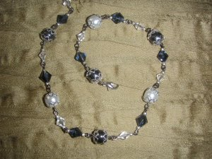 pearl with diamond necklace