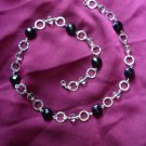 black and clear beaded necklace
