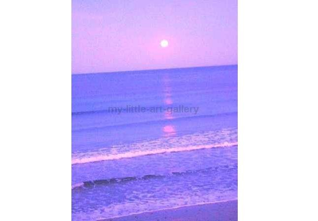 PURPLE MOON ON THE NORTH SEA LIMITED EDITION PHOTOGRAPHIC PRINT