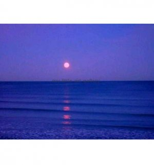 BLUE MOON OVER THE NORTH SEA LIMITED EDITION PHOTOGRAPHIC PRINT