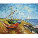 THE FISHING BOATS  OIL PAINTING