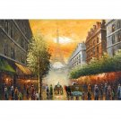 THE ROAD TO THE EIFFEL TOWER  OIL PAINTING