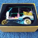 TUK TUK TRIKE TAXI SOUVENIR MODEL FROM THAILAND GOLD and BLUE