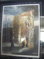 "Native Print ""NATIVE PEACE' framed"