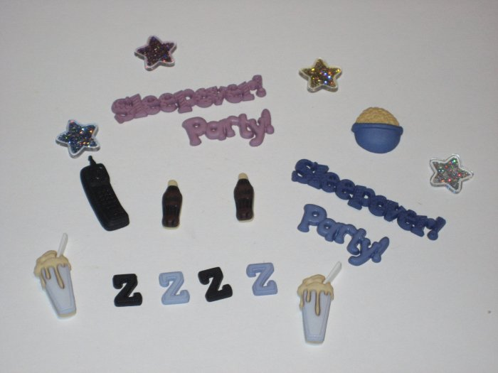 Sleepover Buttons/Charms