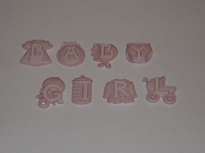 Baby Girl Buttons/Charms