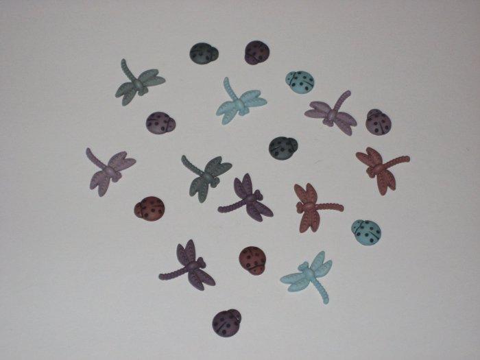 Dragonfly/Ladybug Charms