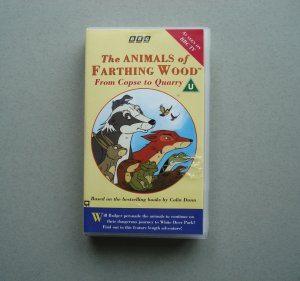 THE ANIMALS OF FARTHING WOOD From Copse to Quarry RARE VHS