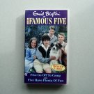 The Famous Five Enid Blyton: Five Go Off To Camp and Five Have Plenty of Fun RARE VHS