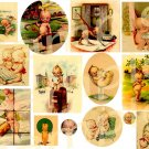 Vintage KEWPIES KEWPIES KEWPIES Digital Collage Sheet
