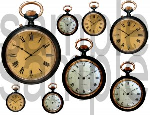 Vintage Clock Faces  Pocket Watches...Just what you NEED... Digital Collage Sheet