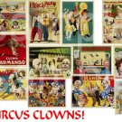 Vintage Circus Clowns ... Digital Collage sheet