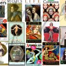 Vintage Exotic Magazine Cover Girls Digital Collage Sheet