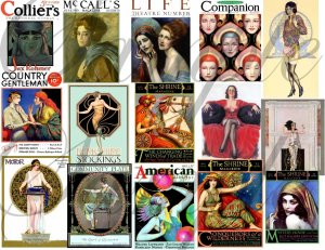 Vintage Exotic Magazine Cover Girls Digital Collage Sheet