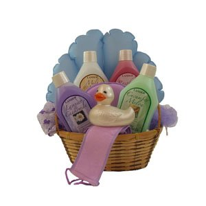 Bath Time Gift Basket with 4 different scents and more.