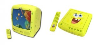 "Emerson 13"" SpongeBob SquarePants TV(Yellow) plus SpongeBob SquarePants DVD Player"
