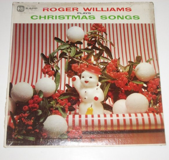 Roger Williams Plays Christmas Songs 33 RPM Vinyl LP