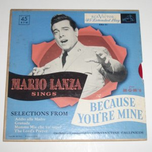 Mario Lanza Sings Because You're Mine Red Vinyl Records 1952