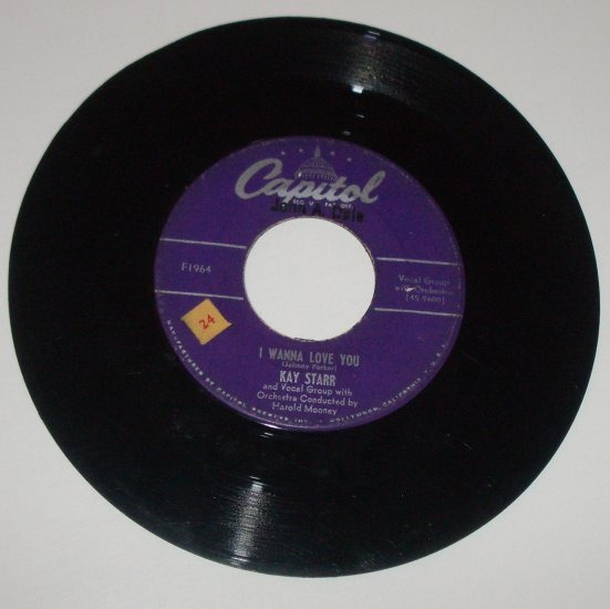 Kay Starr 45 RPM Vinyl Record Album I Wanna Love You / Wheel of Fortune 1964