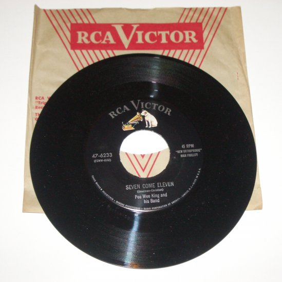 Pee Wee King and His Band Vinyl Record Album Seven Come Eleven / Farewell Blues 1955