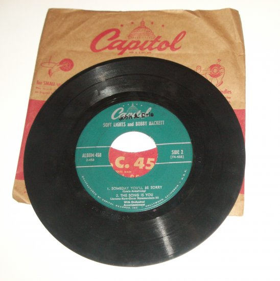 Soft Light and Bobby Hackett Vinyl Record Easy to Love/ That Old Black Magic / The Song is You etc.