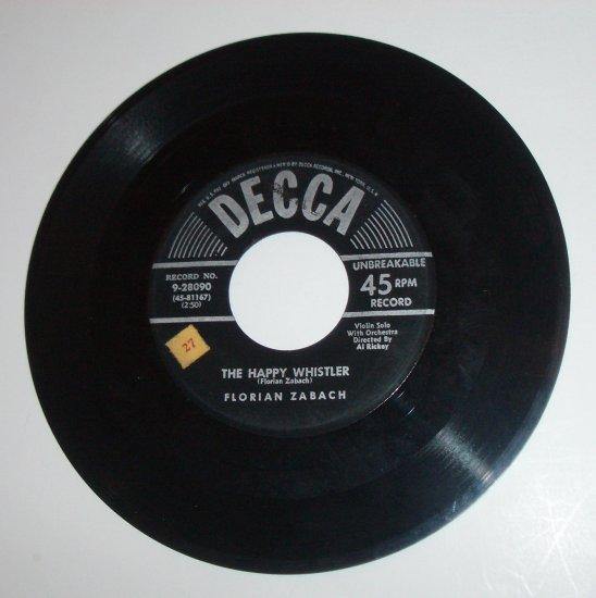 Florian Zabach Vinyl Record Album Jazz Legato / Jazz Pizzicato / The Happy Whistler 1952