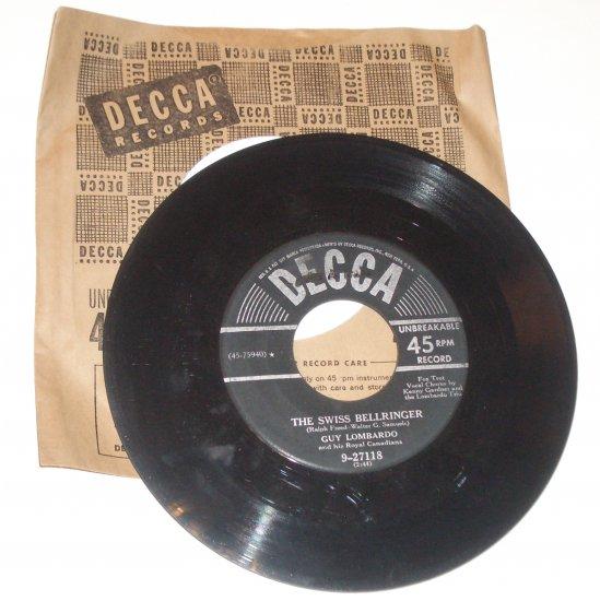 Guy Lombardo Vinyl Record Album The Swiss Bellringer / All My Love 1950