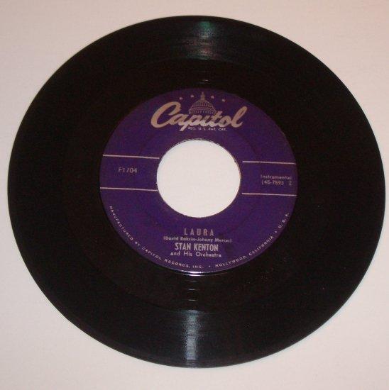 "Stan Kenton 7"" Vinyl 45 RPM Record Laura / Jump for Joe"