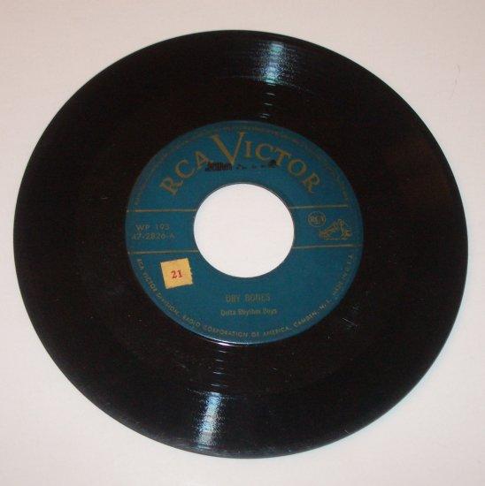 "Delta Rhythm Boys 7"" Vinyl Record Dry Bones / September Song 1950"