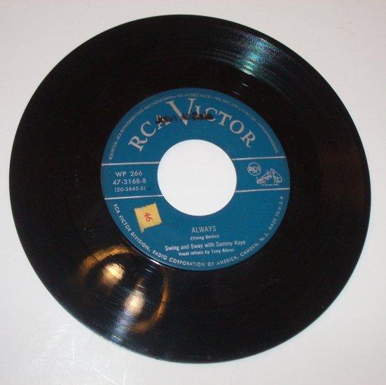 """Sammy Kaye 7"""" Record Always / Blue Skies 1950"""