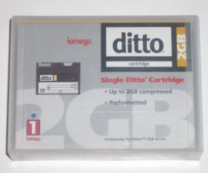 2GB IOMega Ditto Max Cartridge Compressed DITTO2 10733