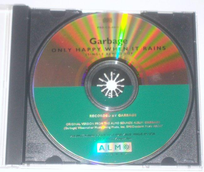 Garbage CD Only Happy When It Rains 1996 Alternative Rock Single