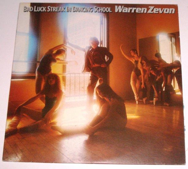Warren Zevon Bad Luck Streak in Dancing School 1980 LP