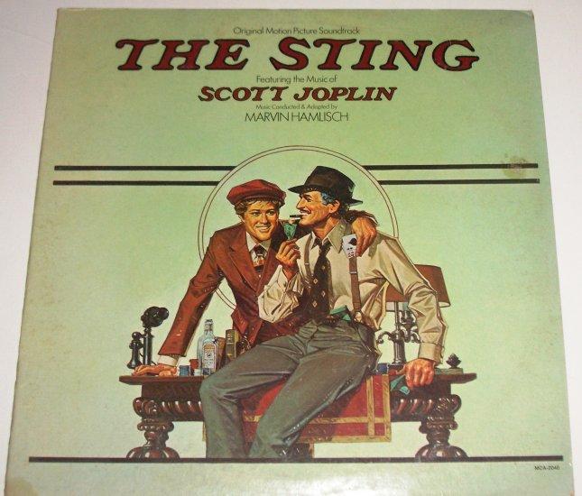 The Sting Soundtrack Scott Joplin 33 RPM Vinyl LP Album