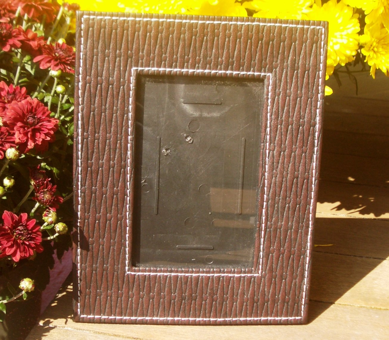 """Woven Leatherette Picture Frame 3 1/4"""" x 5 1/4"""" Inside Measurement"""