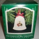 Hallmark Christmas Keepsake Ornament Fine Porcelain Bell 1988 Sisters