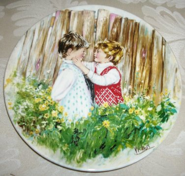 Be My Friend Collector Plate My Memories Wedgwood Queens Ware Mary Vickers 857N