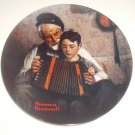 Norman Rockwell Plate The Music Maker Limited Edition 1981 Heritage Series